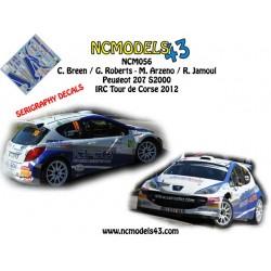 Craig Breen - Mathieu Arzeno - Peugeot 207 S2000 - Rally Tour de Corse 2012
