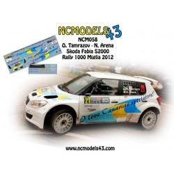 Oleksii Tamrazov - Skoda Fabia S2000 - Rally 1000 Miglia 2012