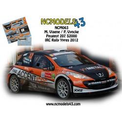 Mathias Viaene - Peugeot 207 S2000 - Rally Ypres 2012