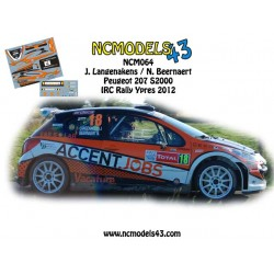 Jonas Langenakens - Peugeot 207 S2000 - Rally Ypres 2012