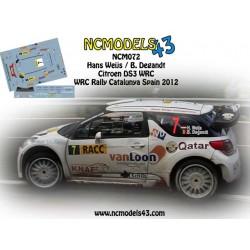 Hans Weijs jr - Citroen DS3 WRC - Rally Spain Catalunya 2012