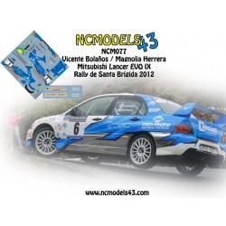 Vicente Bolaños - Mitsubishi Lancer EVO IX - Rally Santa Brígida 2012