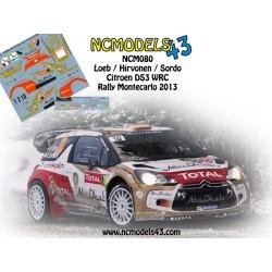 Loeb - Sordo - Hirvonen - Citroen DS3 WRC - Rally Montecarlo 2013