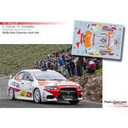 Cristian García - Mitsubishi Lancer EVO X - Rally Islas Canarias 2016