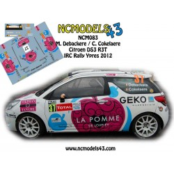 Melisa Debackere - Citroen DS3 R3T - Rally Ypres 2012