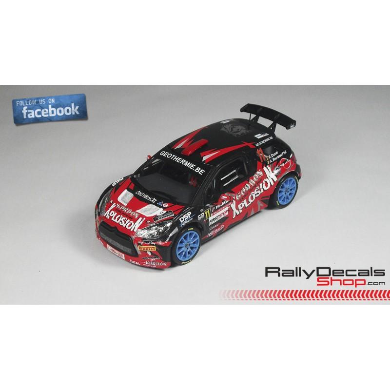 DECALS 1//43 REF 0888 CITROEN XSARA WRC FRANCOIS DUVAL RALLYE MONTE CARLO 2005