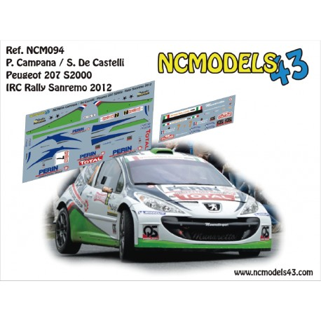 Pierre Campana - Peugeot 207 S2000 - Rally Sanremo 2012