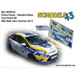 Emma Falcón - Ford Fiesta R2 - Rally Islas Canarias 2013