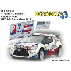Tomas Kostka - Citroen DS3 WRC - Rallye de France - Alsace 2013