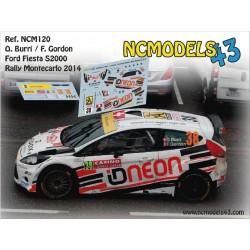 Olivier Burri - Ford Fiesta S2000 - Rally Montecarlo 2014