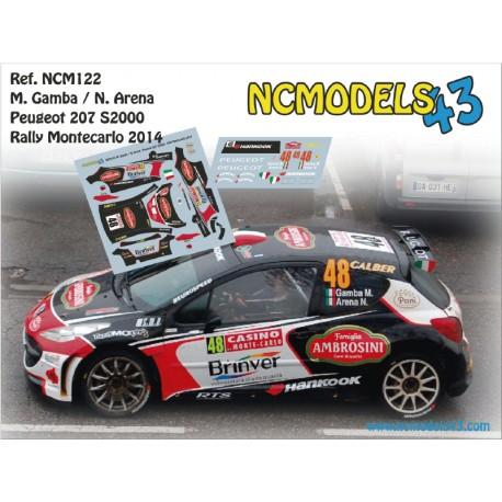 Matteo Gamba - Peugeot 207 S2000 - Rally Montecarlo 2014