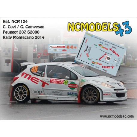 Carlo Covi - Peugeot 207 S2000 - Rally Montecarlo 2014
