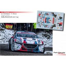 Quentin Giordano - Peugeot 208 R5 - Rally Montecarlo 2017