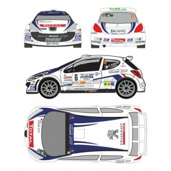 Germain Bonnefis - Peugeot 207 S2000 - Rally Ouest Provence 2012
