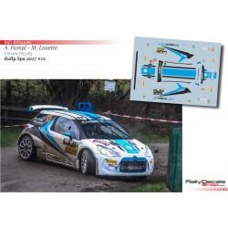 Armand Fumal - Citroen DS3 R5 - Rally Spa 2017