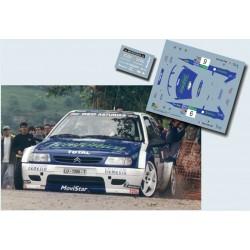 Sergio Vallejo - Citroen Saxo Kit Car - Rally Caja Cantabria 1999