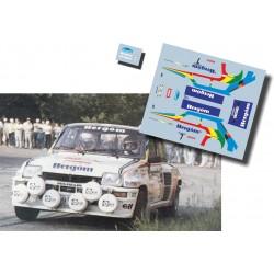 Jesús Puras - Renault 5 Turbo - Rally Cales de Palafugrel 1986