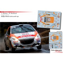Yoann Bonato - Peugeot 208 R2 - Rally Montecarlo 2018