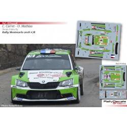 Claude Carret - Skoda Fabia R5 - Rally Montecarlo 2018