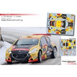 Guillaime de Mevius - Peugeot 208 R5 - Rally Montecarlo 2018