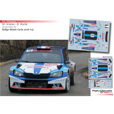 Mathieu Arzeno - Skoda Fabia R5 - Rally Montecarlo 2018