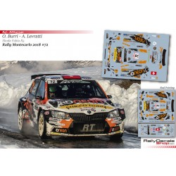 Olivier Burri - Skoda Fabia R5 - Rally Montecarlo 2018