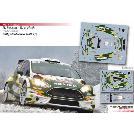 Henk Vossen - Ford Fiesta R5 - Rally Montecarlo 2018