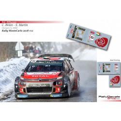 Craig Breen - Citroen C3 WRC - Rally Montecarlo 2018