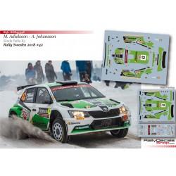 Mattias Adielsson - Skoda Fabia R5 - Rally Sweden 2018