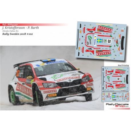 Johan Kristoffersson - Skoda Fabia R5 - Rally Sweden 2018