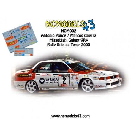 Toñi Ponce - Mitsubishi Galant VR4 - Rally de Teror 2000