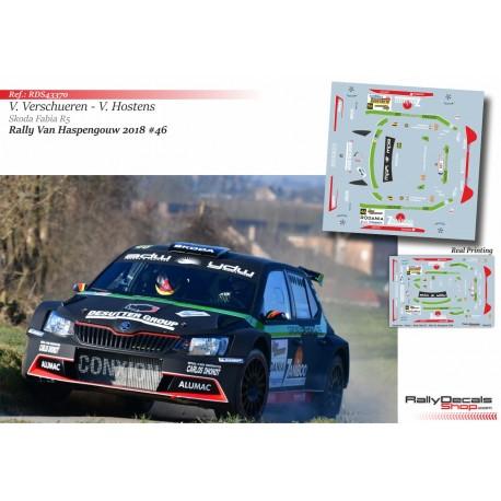 Vincent Verschueren - Skoda Fabia R5 - Rally Haspengouw 2018