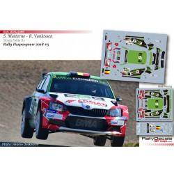 Steve Matterne - Skoda Fabia R5 - Rally Haspengouw 2018