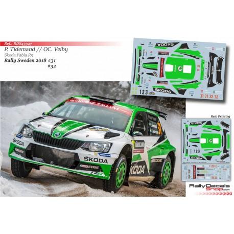 Skoda Motorsport - Skoda Fabia R5 - Rally Sweden 2018