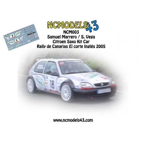 Samuel Marrero - Citroen Saxo Kit Car - Rally de Canarias 2005