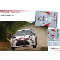 Nasser Al Attiyah - Citroen DS3 WRC - Rally Deutschland 2012