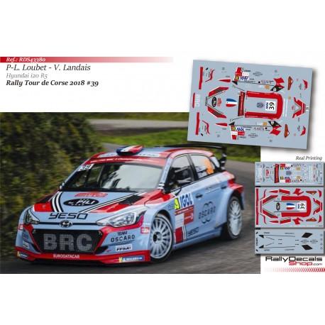 Pierre-Louis Loubet - Hyundai i20 R5 - Rally Tour de Corse 2018