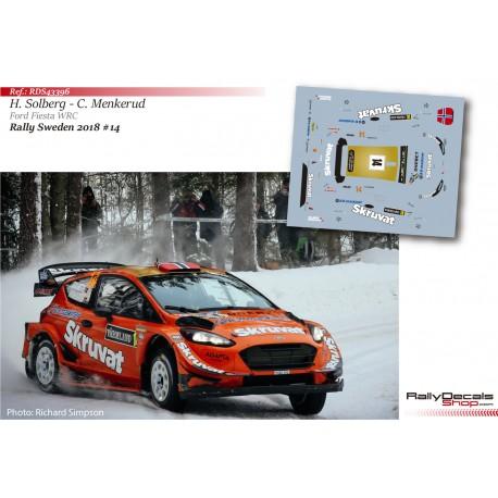 Henning Solberg - Ford Fiesta WRC - Rally Sweden 2018