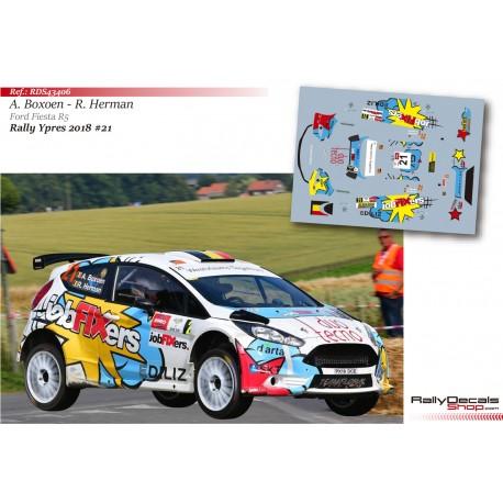 Achiel Boxoen - Ford Fiesta R5 - Rally Ypres 2018