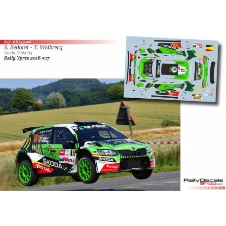 Sébastien Bedoret - Skoda Fabia R5 - Rally Ypres 2018