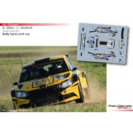 Robin Maes - Skoda Fabia R5 - Rally Ypres 2018