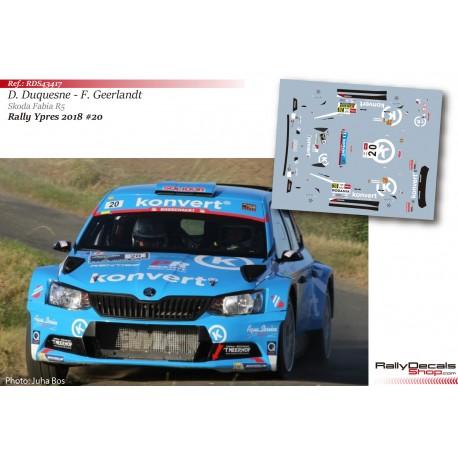 Didier Duquesne - Skoda Fabia R5 - Rally Ypres 2018