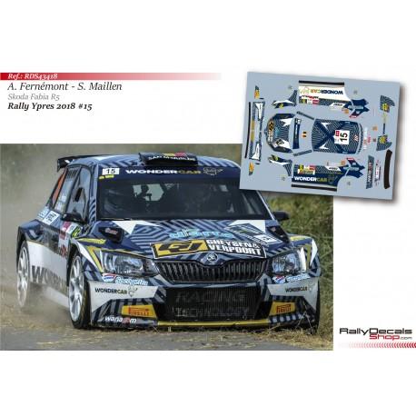 Adrian Fernémont - Skoda Fabia R5 - Rally Ypres 2018
