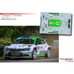 Juuso Nordgren - Skoda Fabia R5 - Rally Roma 2018