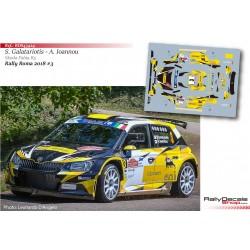 Simos Galatariotis - Skoda Fabia R5 - Rally Roma 2018