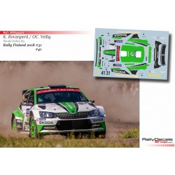 Skoda Motorsport - Skoda Fabia R5 - Rally Finland 2018