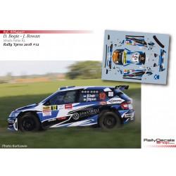 David Bogie - Skoda Fabia R5 - Rally Ypres 2018