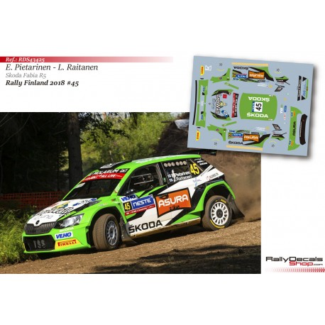 Eerik Pietarinen - Skoda Fabia R5 - Rally Finland 2018