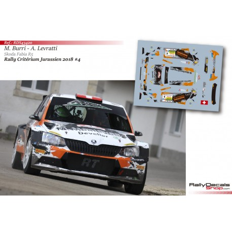 Michael Burri - Skoda Fabia R5 - Rally Critérium Jurassien 2018