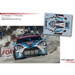 Quentin Giordano - Citroen DS3 R5 - Rally Montecarlo 2016